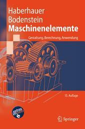 Maschinenelemente: Gestaltung, Berechnung, Anwendung, Ausgabe 15