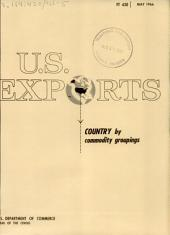 U.S. Exports: Country by commodity groupings, Volume 3