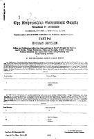 The Maharashtra Government Gazette PDF
