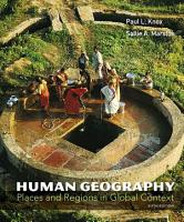 Human Geography  Pearson New International Edition PDF