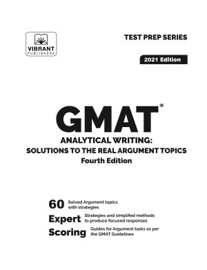 GMAT Analytical Writing  Solutions to the Real Argument Topics  Fourth Edition