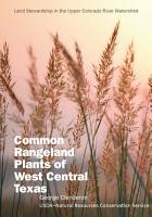 Common Rangeland Plants of West Central Texas PDF