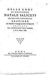 Delle lodi di N. Saliceti orazione