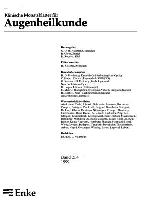Klinische Monatsbl  tter f  r Augenheilkunde PDF