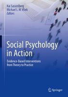 Social Psychology in Action PDF