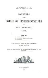 Appendix to the Journals of the House of Representatives of New Zealand: Volume 3
