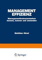Management Effizienz: Managementinstrumentarium kennen, können und anwenden, Ausgabe 2