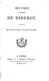 Œuvres inédites: Le neveu de Rameau. Voyage de Hollande
