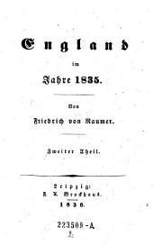England im Jahre 1835: Volume 2