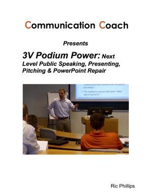 3V Podium Power  Next Level Public Speaking  Presenting  Pitching   PowerPoint Repair