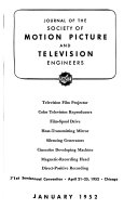 Journal of the Society of Motion Picture and Television Engineers PDF