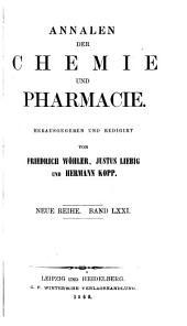Annalen der Chemie und Pharmacie: Bände 71-72;Bände 147-148