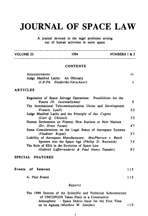 Journal of Space Law