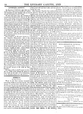 The London Literary Gazette and Journal of Belles Lettres, Arts, Sciences, Etc