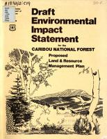 Draft Environmental Impact Statement for the Caribou National Forest Land   Resource Management Plan PDF