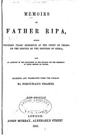 Memoirs of Father Ripa During Thirteen Years  Residence at the Court of Peking in the Service of the Emperor of China PDF