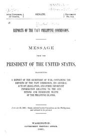 Report of the Philippine Commission to the President