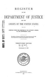 Register: Department of Justice and the Courts of the United States