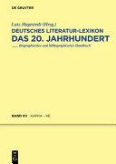 Deutsches Literatur Lexikon  das 20  Jahrhundert PDF