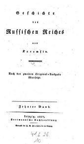 Geschichte des Russischen Reiches. Nach der 2. Original-Ausg: Band 10