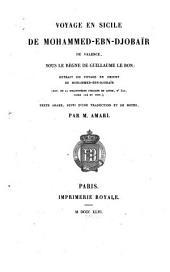 Voyage en Sicile de Mohammed-ebn Djobaïr de Valence, sous le règne de Guillaume le Bon