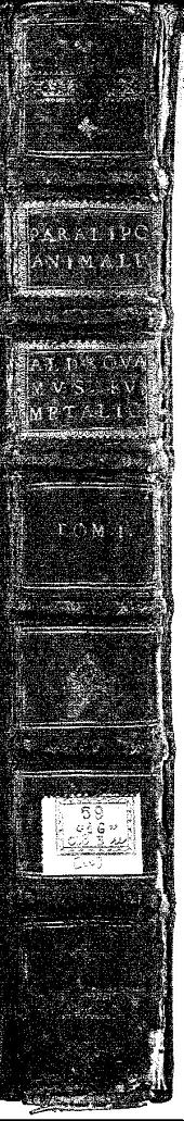 Paralipomena accuratissima historiae omnium animalium quae in voluminibus Aldrouandi desiderantur