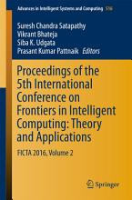Proceedings of the 5th International Conference on Frontiers in Intelligent Computing  Theory and Applications PDF