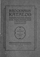 Katalog ausgew  hlter Werke der ausl  ndischen Literatur PDF