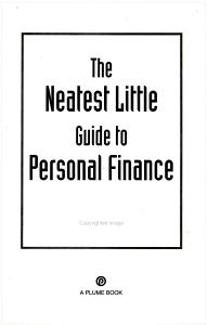 The Neatest Little Guide to Personal Finance Book