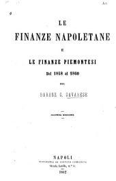 Le finanze napoletane e le finanze piemontesi dal 1848 al 1860