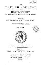 The British Journal of Homoeopathy: Volume 29