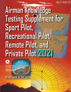 FAA CT 8080 2H Airman Knowledge Testing Supplement for Sport Pilot  Recreational Pilot  Remote Pilot  and Private Pilot  Geospatial Institute 2021 Edition