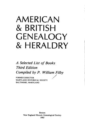 American   British Genealogy   Heraldry PDF