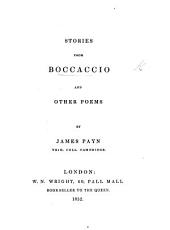 Stories from Boccaccio [i.e. from the Decameron], and Other Poems by James Payn
