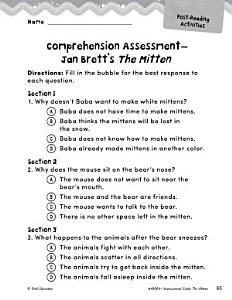 The Mitten Comprehension Assessment PDF