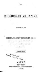 The Baptist Missionary Magazine: Volume 31