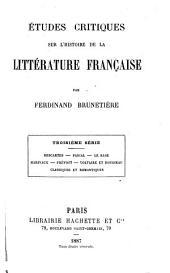 Études critiques sur l'histoire de la littérature française: III