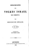 Geschichte des Volkes Israel bis Christus  Bd  1 2  and  Anhang  3  5 PDF