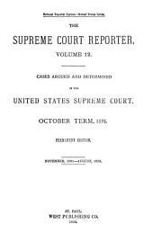 Supreme Court Reporter: Volume 12