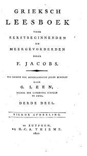 Grieksch leesboek voor eerstbeginnenden en meergevorderden: Volume 3