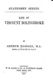 Life of Viscount Bolingbroke