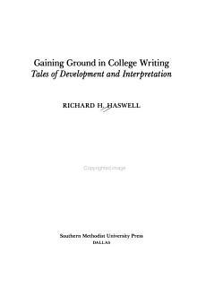 Gaining Ground in College Writing PDF