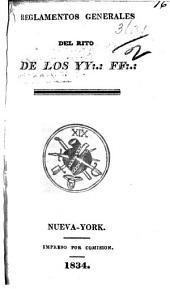 Reglamentos generales del rito de los YY:.: FF:.:.