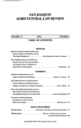San Joaquin Agricultural Law Review Book PDF