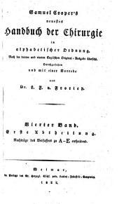 Neuestes Handbuch der Chirurgie in alphabetischer Ordnung. Nach der 3. englischen Original-Ausg. übers: Band 4