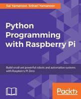 Python Programming with Raspberry Pi PDF