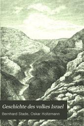 Geschichte des volkes Israel: Ausgabe 1