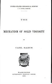 The mechanism of solid viscosity: Volume 8, Issue 94