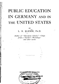 Public Education in Germany and in the United States PDF