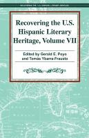 Recovering U  S  Hispanic Literary Heritage PDF